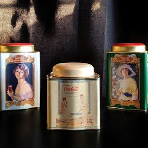 Other - Set of Three Vintage Coca Cola Collectible Tins